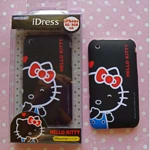 Black iDress Hello Kitty Red Bow iphone 3G Premium Cover   Japan with