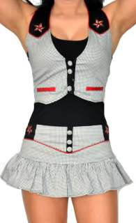 LDS GOTHIC SHIRT PAGE STAR PUNK EMO TATTOO HOT TOPIC BETTY VEST TOP