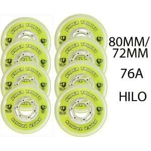 HYPER Inline Wheels TRINITY TRI POUR 72/80mm HILO ROLLER HOCKEY