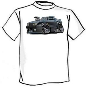 Mad Max Interceptor Muscle Car Cartoon Tshirt