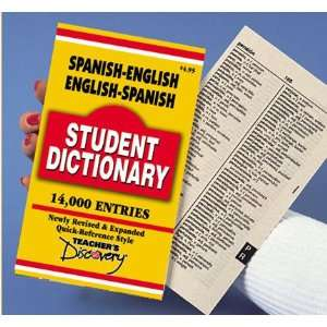SPANISH STUDENT DICTIONARY Teachers Discovery Books