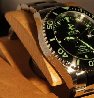 Reserve Grand Diver Swiss Quartz Green Lume SS Bracelet Watch