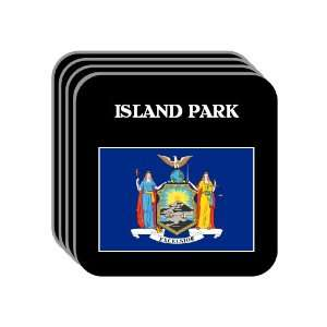 US State Flag   ISLAND PARK, New York (NY) Set of 4 Mini
