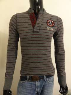 NWT ABERCROMBIE & FITCH MENS HENLEY LONG SLEEVE SHIRT