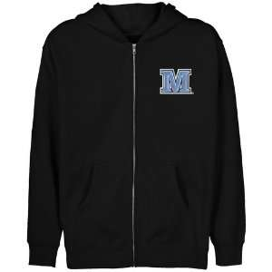 Maine Black Bears Youth Black Logo Applique Full Zip Hoody