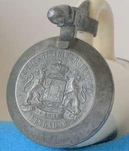 Military Regimental Beer Stein 20. Inf. Rgmt.Lindau c.1915
