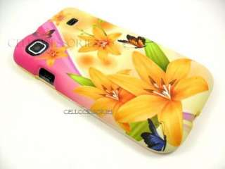 SAMSUNG VIBRANT 4G T MOBILE YELLOW LILY HARD COVER CASE