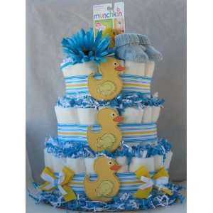 Lucky Duck 3 Tier Diaper Cakes (Blue) Baby