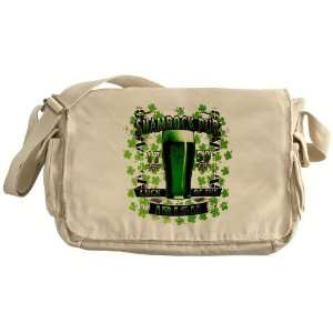 Khaki Messenger Bag Shamrock Pub Luck of the Irish 1759 St