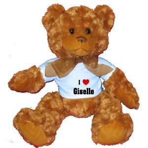 I Love/Heart Giselle Plush Teddy Bear with BLUE T Shirt