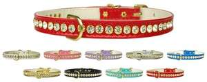 Beverly Crystal Jeweled 1 Row Pet Dog Collar