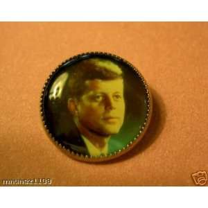 Under Glass President John Kennedy Button 3/4