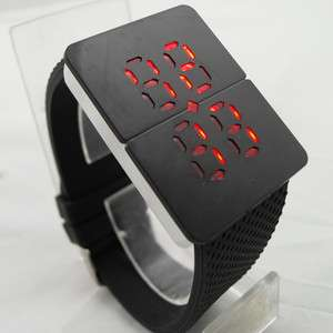 Rare RED LED Digital Date Time Lady/Mens Sports Watch