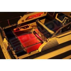 4pc Red LED Boat Deck & Cabin Lighting Kit: Sports & Outdoors