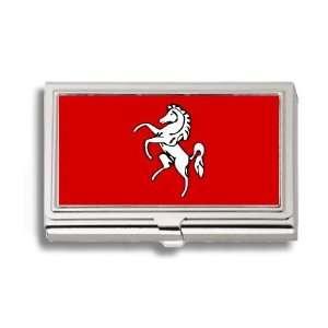 Kent England UK Flag Business Card Holder Metal Case
