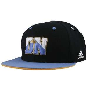 adidas Denver Nuggets Black Crown Team Kolors Fitted Hat