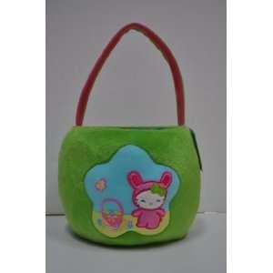Hello Kitty Green Plush Easter / Halloween Holiday Basket