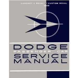 1957 DODGE CORONET ROYAL CUSTOM etc Service Manual Automotive