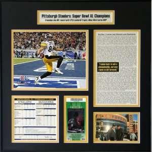 Hines Ward Pittsburgh Steelers   MVP   Super Bowl XL Ticket Frame