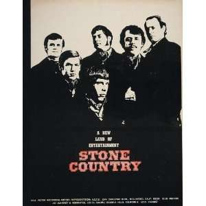 1967 Print Ad Stone Country Band Steve Young RCA Victor