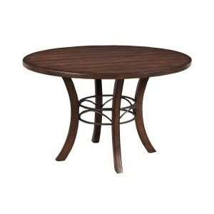 Cameron Wood Round Dining Table   Hillsdale Furniture