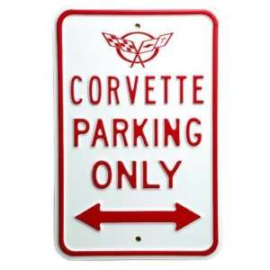 Corvette C5 Only Parking Sign Embossed Steel