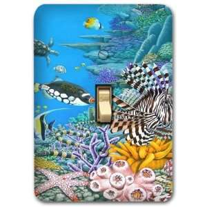 Deep Ocean Coral Fish Sea Metal Light Switch Plate Cover