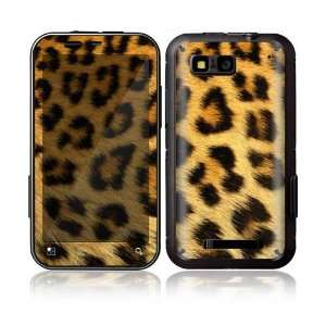 Leopard Print Decorative Skin Decal Sticker for Motorola Defy Cell