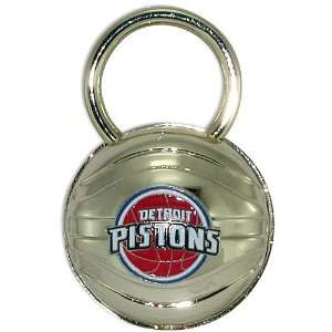 Detroit Pistons Gold Plated Basketball Keychain