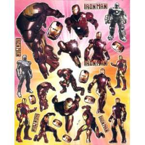 Iron Man superhero in Marvel Comic Universe Sticker Sheet