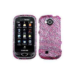 Full Diamond Graphic Case   Hot Pink Zebra Cell Phones & Accessories
