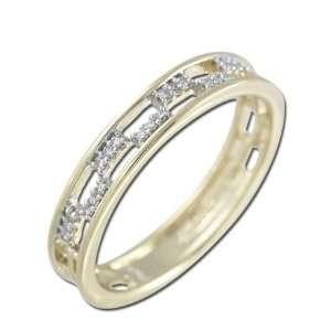 Yellow Gold Diamond Ring Diamond quality AA (I1 I2 clarity, G I color
