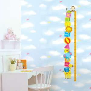 CIRCUS SHAW KIDS GROWTH HEIGHT CHART WALL STICKER DECAL