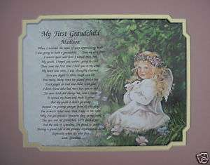 PERSONALIZED GRANDDAUGHTER POEM GIFT FOR 1st GRANDCHILD
