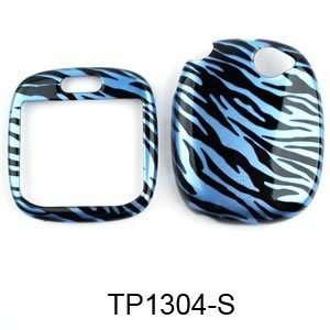 Sharp Kin 1 Transparent Design, Blue Zebra Print Hard Case