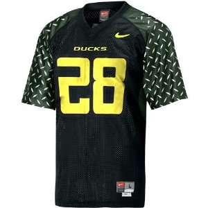 Nike Oregon Ducks #28 Black Replica Football Jersey