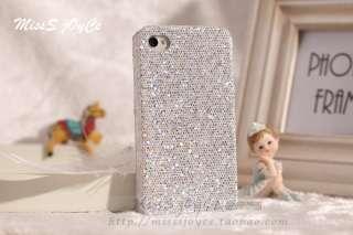 Glitter Sparkle Diamond Hard Back Case+Free Film For iPhone 4 4G 4S