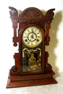 New Haven Striking Walnut Parlor Clock