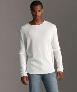 John Varvatos crystalline cotton long sleeve waffle thermal shirt