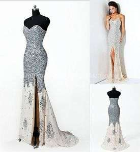 Hot Slit Chiffon Formal Evening Party Long Prom Dresses Gowns