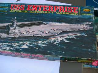 VINTAGE AURORA 61 UNBUILT USS ENTERPRISE ATTACK AIRCRAFT CARRIER