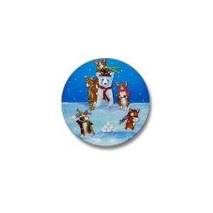 Snow Corgis III Pets Mini Button by  Patio, Lawn