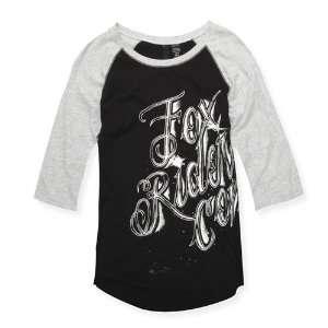 FOX Racing Juniors 54710 SHADY LADY Baseball Tee T Shirt