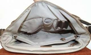 Vintage Mens Genuine Cowhide Leather Case Shoulder Bag Satchel Tote
