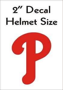 Philadelphia Phillies Helmet Decal Sticker RED 2 #3s