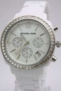 Michael Kors Women Chronograph Date White Watch MK5079