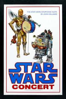 STAR WARS * ORIG CONCERT MOVIE POSTER C3PO R2D2 DROID