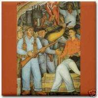 Diego Rivera Arsenal Frida Kahlo Ceramic Art Tile Coast