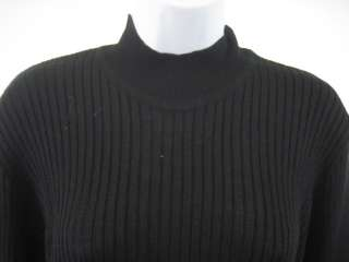 YVES SAINT LAURENT Black Mock Neck Long Sleeve Sweater