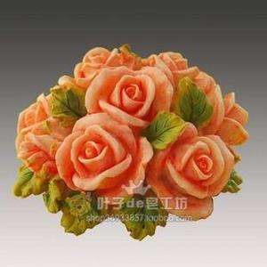 H28 Soft Silicone Handmade Soap Candle Mold Mould   Rose Flowers